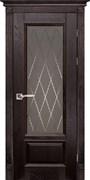Межкомнатная дверь Массив Дуба Двери Белоруссии Рочестер Венге Квадро со стеклом