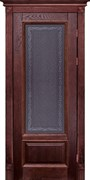 Межкомнатная дверь Массив Дуба Двери Белоруссии Рочестер Красное Дерево Кристалл со стеклом