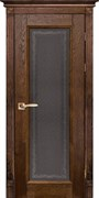 Межкомнатная дверь Массив Дуба Двери Белоруссии Альбертон Дуб Винтаж Кристалл со стеклом