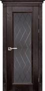 Межкомнатная дверь Массив Дуба Двери Белоруссии Альбертон Венге Квадро со стеклом
