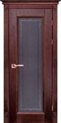Межкомнатная дверь Массив Дуба Двери Белоруссии Альбертон Красное Дерево Кристалл со стеклом