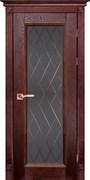 Межкомнатная дверь Массив Дуба Двери Белоруссии Альбертон Красное Дерево Квадро со стеклом