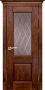Межкомнатная дверь Массив Дуба Двери Белоруссии Глазго Дуб Винтаж со стеклом