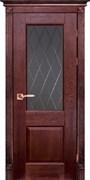 Межкомнатная дверь Массив Дуба Двери Белоруссии Глазго Красное Дерево со стеклом