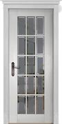 Межкомнатная дверь Массив Дуба Двери Белоруссии Бристоль Белый Классик со стеклом