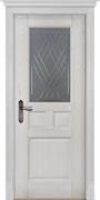 Межкомнатная дверь Массив Дуба Двери Белоруссии Портсмут Дуб Жемчуг со стеклом