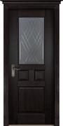 Межкомнатная дверь Массив Дуба Двери Белоруссии Портсмут Венге со стеклом