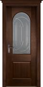 Межкомнатная дверь Массив Дуба Двери Белоруссии Шеффилд Дуб Винтаж со стеклом