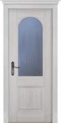 Межкомнатная дверь Массив Дуба Двери Белоруссии Шеффилд Дуб Жемчуг со стеклом