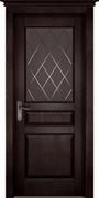 Межкомнатная дверь Массив Ольхи Двери Белоруссии Энфилд Венге со стеклом