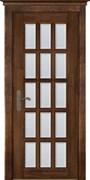 Межкомнатная дверь Массив Ольхи Двери Белоруссии Астон Дуб Винтаж со стеклом