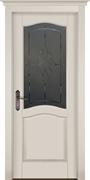 Межкомнатная дверь Массив Ольхи Двери Белоруссии Рослин Белый Классик со стеклом