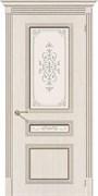 Межкомнатная дверь FSL-14 Дуб белый со стеклом