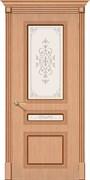 Межкомнатная дверь FSL-14 Дуб светлый со стеклом