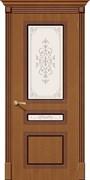Межкомнатная дверь FSL-14 Орех натуральный со стеклом