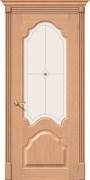 Межкомнатная дверь FA-27 Дуб светлый со стеклом