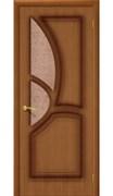 Межкомнатная дверь FG-25 Орех натуральный Узор со стеклом