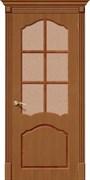 Межкомнатная дверь FCL-11 Орех натуральный со стеклом