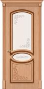 Межкомнатная дверь FAZ-22 Дуб светлый со стеклом