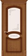 Межкомнатная дверь FAZ-22 Орех натуральный со стеклом