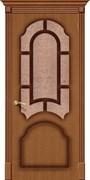 Межкомнатная дверь FSO-15 Орех натуральный со стеклом