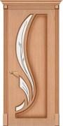 Межкомнатная дверь FL-20 Дуб светлый со стеклом