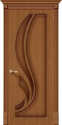 Межкомнатная дверь FL-20 Орех натуральный глухая
