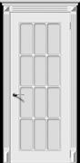 Межкомнатная дверь Эмаль Azzura Bianco со стеклом