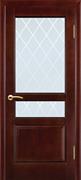 Межкомнатная дверь Аметист Дуб-коньяк со стеклом