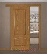 Раздвижная одностворчатая дверь Роксолана Дуб натуральный глухая