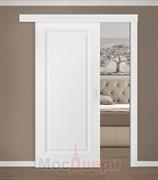 Раздвижная одностворчатая дверь Эмаль Fortezza Bianco глухая