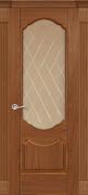 Межкомнатная дверь Криста Дуб Эльдорадо со стеклом