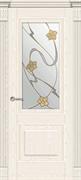 Межкомнатная дверь Ивуар Ясень Жемчуг со стеклом