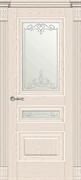 Межкомнатная дверь Клавье Эмаль Ваниль со стеклом