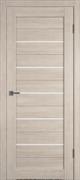 Межкомнатная дверь Profil 2.81DX Капучино LACOBEL Белый Лак со стеклом
