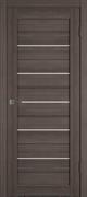 Межкомнатная дверь Profil 2.81DX Грей LACOBEL Белый Лак со стеклом