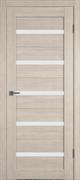 Межкомнатная дверь Profil 7DX Капучино LACOBEL Белый Лак со стеклом
