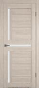 Межкомнатная дверь Profil 19DX Капучино LACOBEL Белый Лак со стеклом