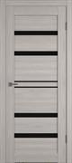 Межкомнатная дверь Profil 2.65DX Стоун LACOBEL Черный Лак со стеклом