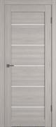 Межкомнатная дверь Profil 57DX Стоун LACOBEL Белый Лак со стеклом