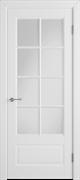Межкомнатная дверь Эмаль Modena Bianco со стеклом