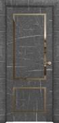Межкомнатная дверь Profil 23RTL Черный Мрамор со стеклом