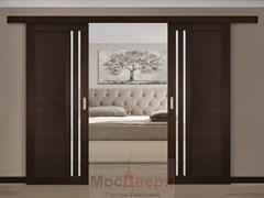 Раздвижная двустворчатая дверь Profil 2.62MXU Венге Мателюкс со стеклом