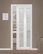 Дверь пенал раздвижная встроенная одностворчатая Profil 2.119MT Монблан Квадро со стеклом