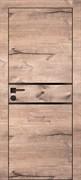 Межкомнатная дверь Profil 29ZN Дуб Натуральный LACOBEL Черный лак с черной алюминиевой кромкой