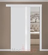 Раздвижная одностворчатая дверь Profil 6E Манхэттен Мателюкс с матовой алюминиевой кромкой