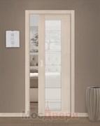Дверь пенал раздвижная встроенная одностворчатая Profil 47X Капучино Мелинга Мателюкс