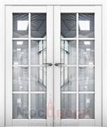 Дверь распашная двустворчатая Profil 101RU Аляска со стеклом