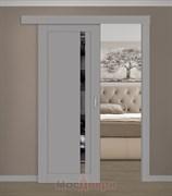 Раздвижная одностворчатая дверь Profil 2.71NST Какао матовый LACOBEL Зеркальный Триплекс