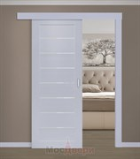Раздвижная одностворчатая дверь Profil 71MXU Манхэттен Мателюкс со стеклом